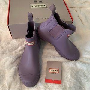 Lavender short Chelsea rain boot 💜